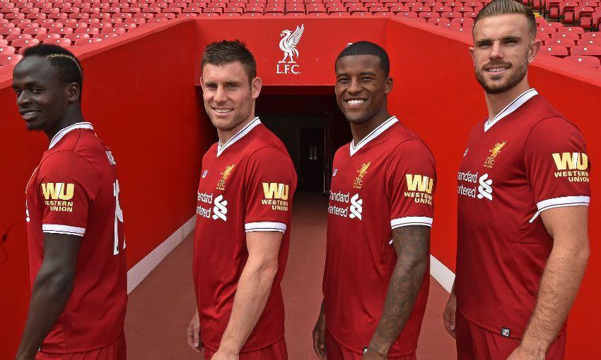Liverpool Sponsors Partners brand associations advertisements logos ads Western Union