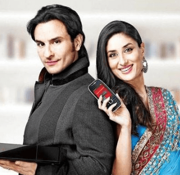 Saif Ali Khan Advertisements Brand Ambassador Endorsements TVCs ads Airtel