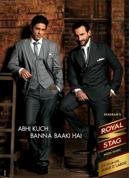 Shahrukh and Saif Ali Khan in Seagram's Royal Stag Ad shown to user