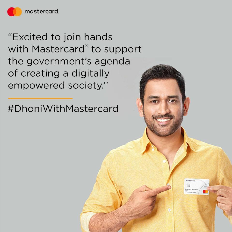 MS Dhoni Brand Ambassador Sponsors Endorsements List Advertising Commercials TVCs Associations Brand Value MasterCard