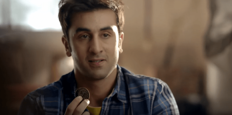 Ranbir Kapoor Brand Ambassador Brand Endorsements Advertisements Ads TVC Promotions Associations Ranbeer Oreo cookies biscuits