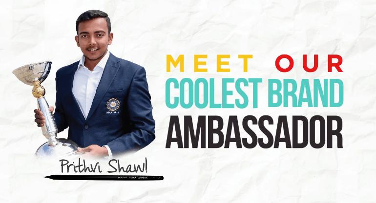 Prithvi Shaw Brand Endorsements Sponsors Sponsorships Personal Brand Ambassador TVCs Advertising Navneet Youva