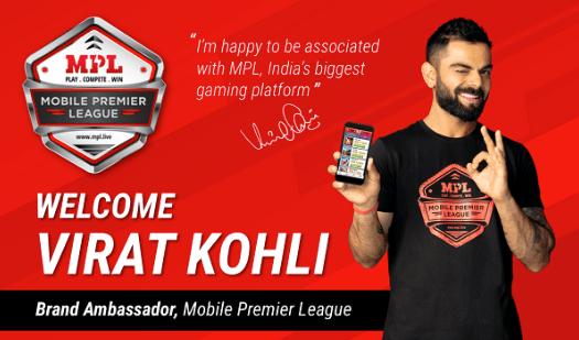 Virat Kohli Brand Ambassador Endorsements Advertising TVCs product promotions brand value list MPL