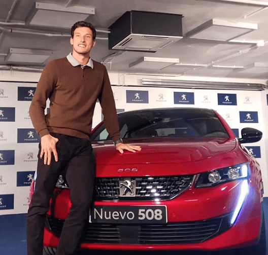 Luxury cars endorsed advertised promoted driven by tennis male female players sports sponsors list Pablo Carreño Busta Peugeot