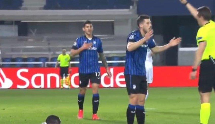 Ќе има реакции! Погледнете каков црвен картон доби Аталанта против Реал Мадрид 🎥