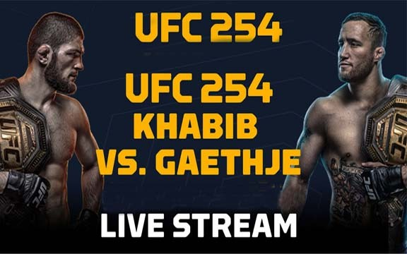 UFC 254 Live Fight,Khabib vs Gaethje Live, FIGHT by Fight Live Stream Show Time