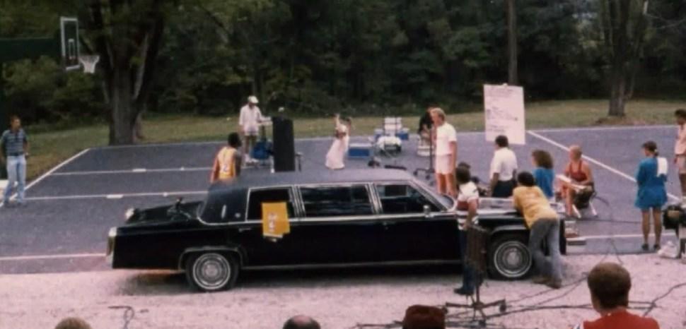 Larry Bird y Magic Johnson, durante el rodaje