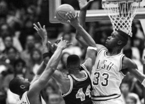 Hank Gathers y Saquille O'Neal