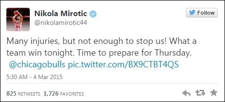 Tweet Nikola Mirotic