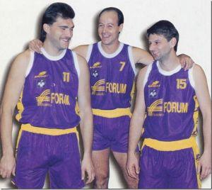 Sabonis, Corbalán y Chomičius en el Fórum Valladolid.