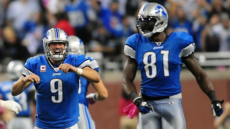 Matthew Stafford y Calvin Johnson