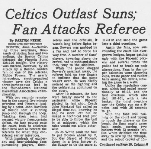 Crónica_Boston_Celtics_Phoenix_Suns_1976