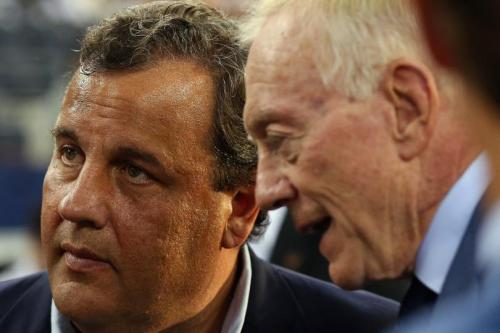 Chris Christie y Jerry Jones