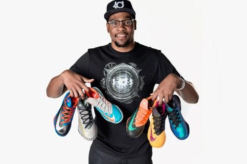 """Kevin Durant y sus modelos de zapatillas """"KD"""""""
