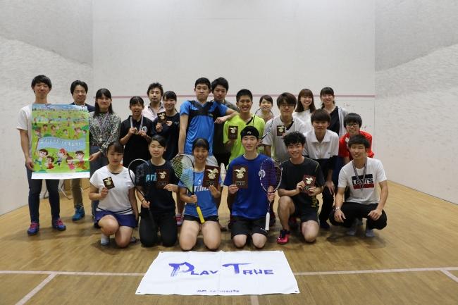 【スカッシュ】熱戦が続いた全日本アンダー23選手権、男子松本が2連覇、女子中学3年高橋がチャンピオン。