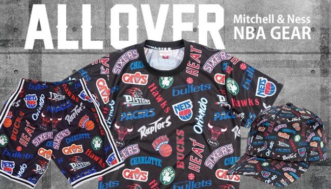 有名人着用で問い合わせ多数!NBAチームロゴ総柄アイテムがSALE価格に!Mitchell&Ness(ミッチェル&ネス)
