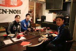 卓球日本代表選手団を「和食」で応援!