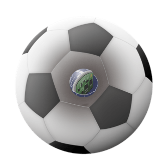 アクロディア、センサー内蔵サッカーボールを開発、「CEATEC 2019」のKDDIブースにて展示