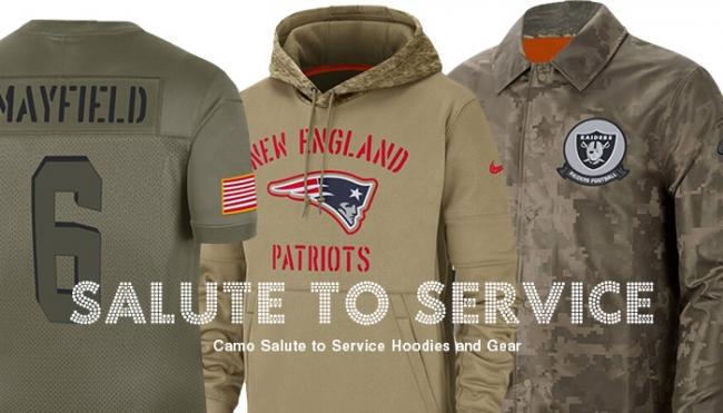 NFLグッズ専門店セレクションがSalute To Service(軍人感謝キャンペーン)の記念アイテムを取寄販売開始!