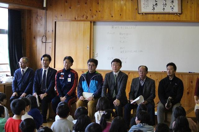 営業部 野澤洋輔と高橋直樹スクールマスターが新潟市立坂井東小学校を訪問