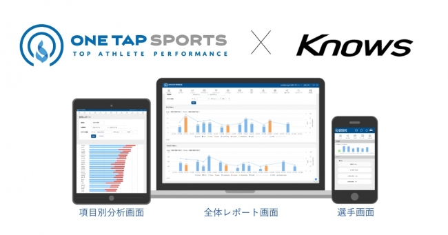 「ONE TAP SPORTS」と「Knows」がデータ連携を開始