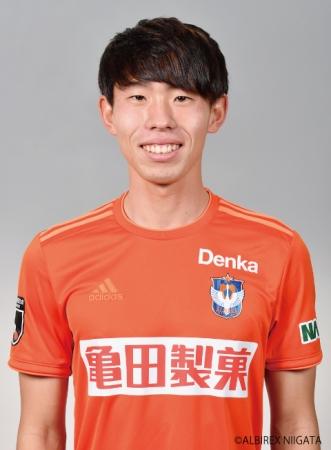 渡邊泰基選手 アルビレックス新潟より期限付き移籍加入のお知らせ