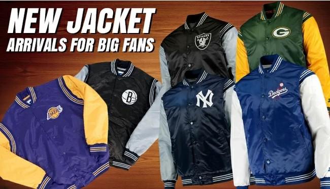 スターター サテンジャケットが新入荷!メジャーリーグ、NBA、NFLの人気チーム多数!