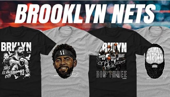 NBA ブルックリン・ネッツ Tシャツが予約開始!カイリー選手、デュラント選手やハーデン選手のビッグ3モデルも登場!