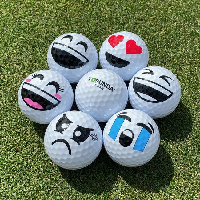 笑顔(女子)が加わったゴルフボール