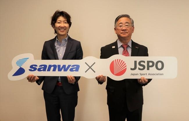 (左:株式会社サンワ 山川社長 / 右:JSPO 泉副会長)