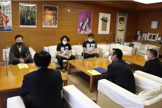 【香川ファイブアローズ】高松市長への表敬訪問のご報告