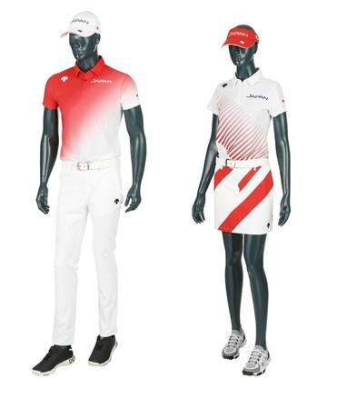デサント 2021年ゴルフジャパンナショナルチームモデルを発売!6月1日(火)よりシャツやパンツ、スカート、キャップなどを展開