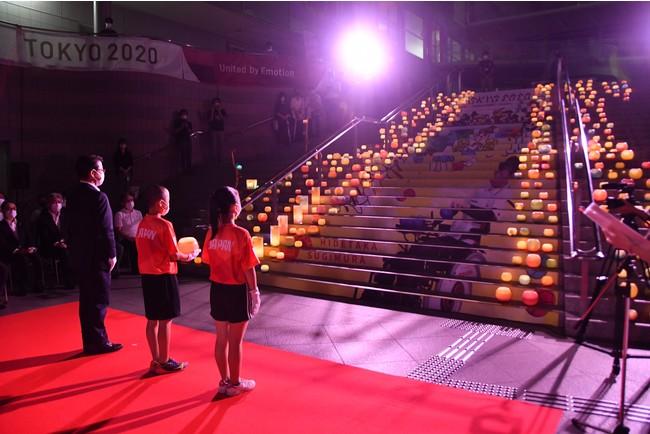 東京2020パラリンピック・ボッチャ日本代表杉村英孝選手(伊東市出身)の出陣をテーマにした採火式を実施、8月24日パラリンピック開幕