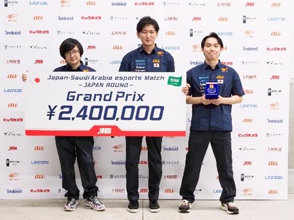 優勝 TEAM JAPAN ふ~ど 選手  ネモ 選手  ときど 選手