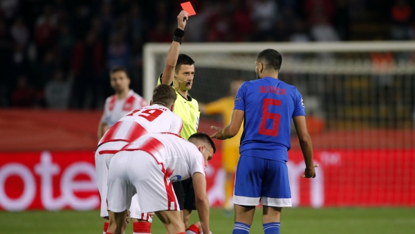 Red Star Belgrade 3-1 Olympiacos: Milunovic and Boakye strike late against 10 men