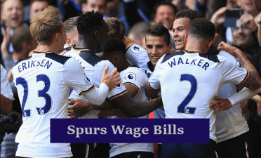 tottenham players salary