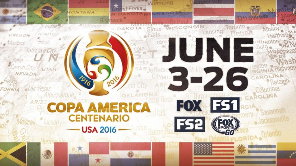 Media coverage Banner of Copa America 2016