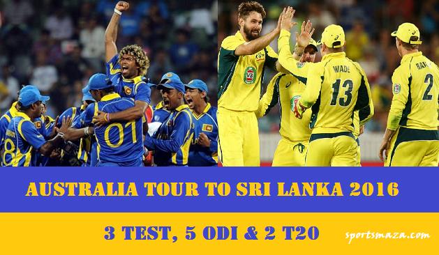Australia tour to Sri Lanka 2016
