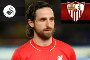 Liverpool midfielder Joe Allen's next destination Sevilla or Swansea City ?