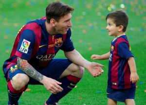 Barcelona emerged to join Messi's Son Thiago in their kid team