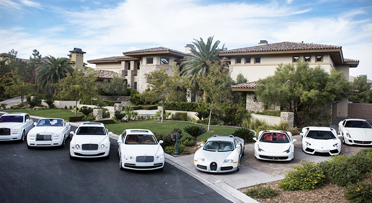 car collection of Mayweather