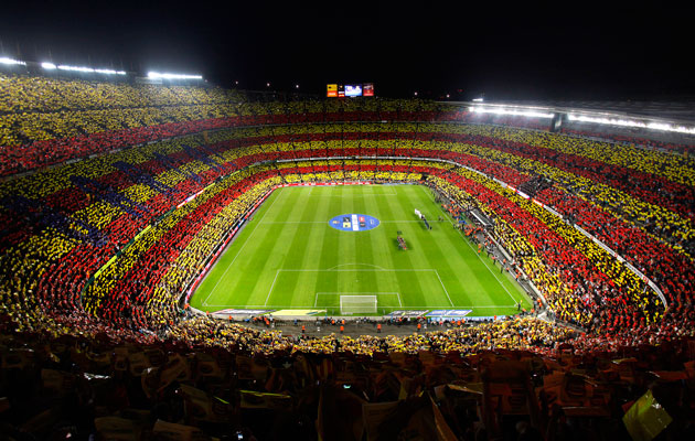 Barcelona at camp nou