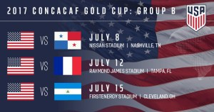 USA to deal with Nicaragua, Panama and Martinique in the group stage of gold cup