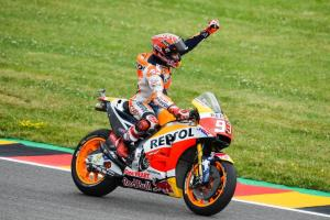 MotoGP 2017: Marc Marquez wins at Sachsenring and standing on top