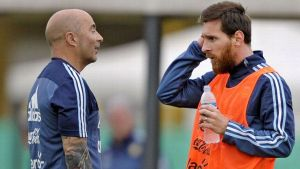 Argentina coach denies any rift with Messi