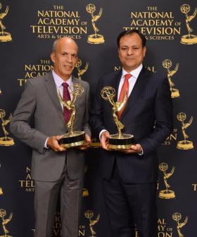 Rodolfo Martinez and Armando Benitez - Accepting the Awards on behalf of ESPN Deportes