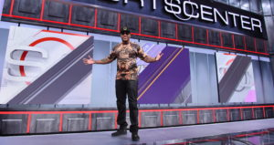 Bristol, CT - April 7, 2015 - Studio X: Flo Rida on the set of SportsCenter (Photo by Joe Faraoni / ESPN Images)