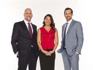 Los Angeles, CA - January 21, 2016 - LAPC: (L to R) Portrait of Dan Shulman, Jessica Mendoza and Aaron Boone (Photo by Kohjiro Kinno / ESPN Images)