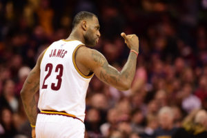 Cleveland, OH - January 23, 2016 - Quicken Loans Arena: LeBron James (23) of the Cleveland Cavaliers during a regular season game (Photo by Phil Ellsworth / ESPN Images)