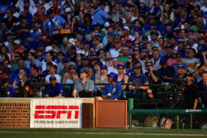 Chicago, IL - July 31, 2016 - Wrigley Field: Fans of the Chicago Cubs during a regular season Sunday Night Baseball game (Photo by Phil Ellsworth / ESPN Images)